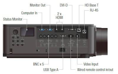 Hitachi CP-X9110 Projectors  connections