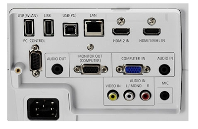 NEC UM301wgi Projectors  connections