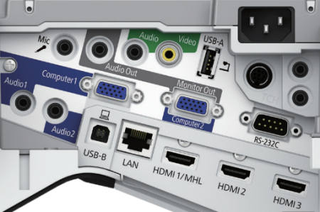 EB-675wi Projectors  connections