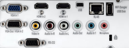 ZH400ust Projectors  connections