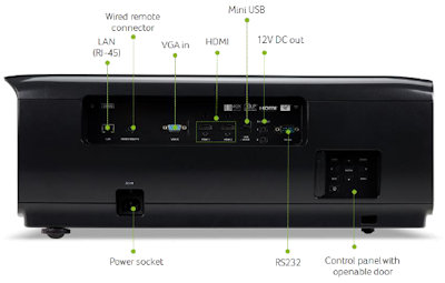 Acer V9800 Projectors  connections