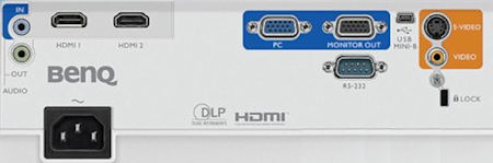 BenQ MW550 Projectors  connections
