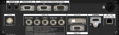 Panasonic PT-RZ870be Projectors  connections