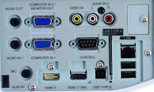 MC-AX3006 Projectors  connections