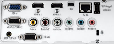 ZW400ust Projectors  connections