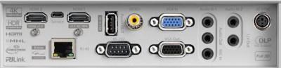 ZH406st Projectors  connections