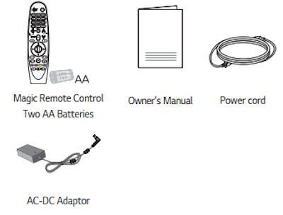 HF65ls Projectors  supplied accessories