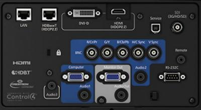 EB-L1505uh Projectors  connections