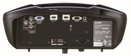 Mitsubishi HC6500 Projectors  connections