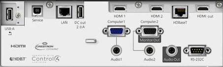 EB-L630su Projectors  connections